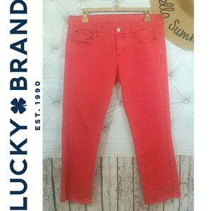 Coral Orange Jeans LUCKY BRAND straight leg